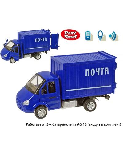 """Машина батар 9077-D """"Газель"""" откр.двери, звук, свет, в кор. 22,5*12*12,5см"""
