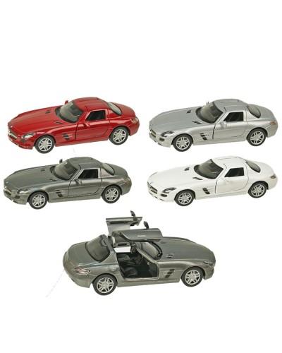"""Машина металл """"KINSMART"""" KT5349W """"Mercedes-Benz SLS AMG"""", в коробке 16*8*7,5см"""