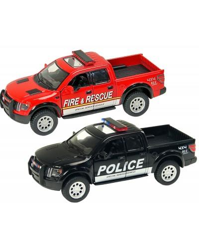 "Машина металл ""KINSMART"" KT5365WPR  ""Ford F-150 SVT (Police/Fire)"", в коробке 16*8*7,5см"