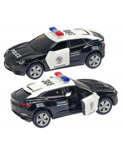 "Машина металл ""KINSMART"" KT5368WP ""Lamborghini Urus (Police)"", в коробке 16*8*7,5см"