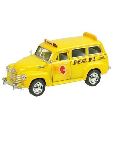 "Машина металл ""KINSMART"" KT5005W ""Chevrolet Suburban School Bus 1950"", в коробке 16*8*7см"