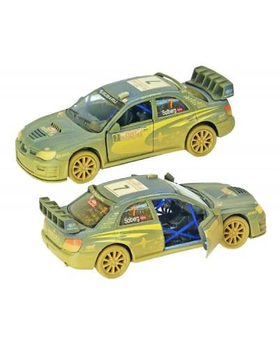 "Машина металл ""KINSMART"" KT5328WY ""Subaru Impreza WRC 2007 (Muddy)"" в кор. 16*8,5*7см"