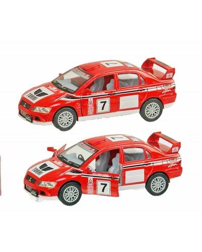 """Машина металл """"KINSMART"""" KT5048W """"Mitsubishi Lancer Evolution VII"""", в коробке 12,5*5*4,5см"""