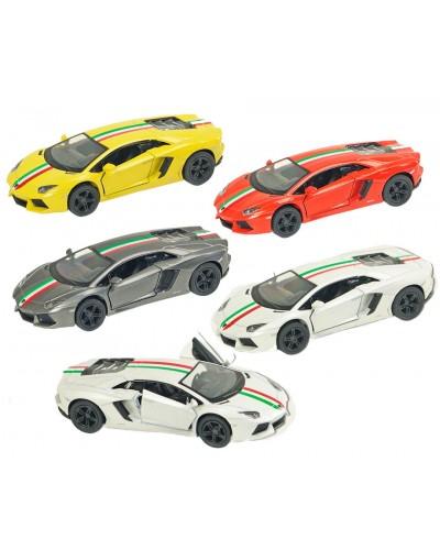 "Машина металл ""KINSMART"" KT5355WF  ""Lamborghini Aventador LP 700-4 with printing"" в кор16*8,5"