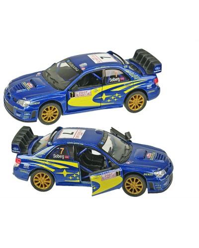 "Машина металл ""KINSMART"" KT5328W ""Subaru Impreza WRC 2007"", в коробке 16*8*7,5см"