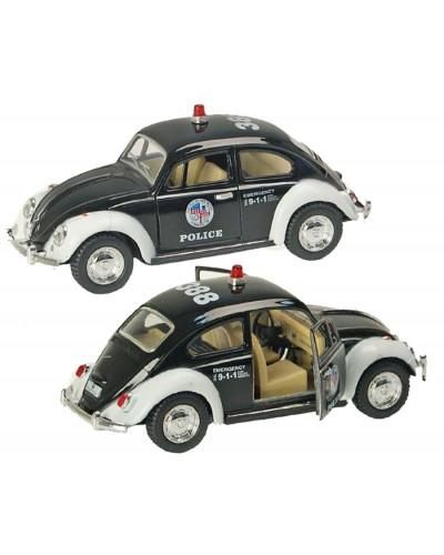 """Машина металл """"KINSMART"""" KT5057WP """"Полиция""""Volkswagen Classical Beetle в кор.16*8,5*7cm"""