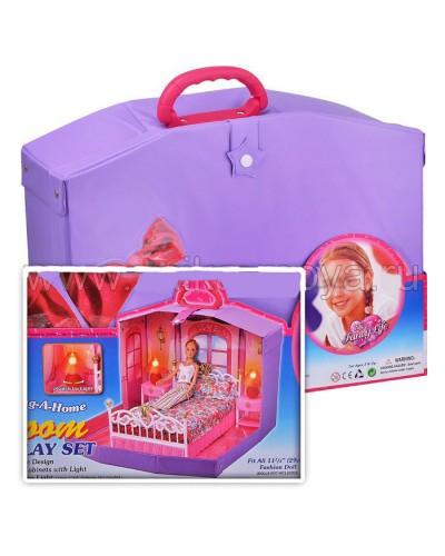 Домик 99001HB спальня, в чемоданчике
