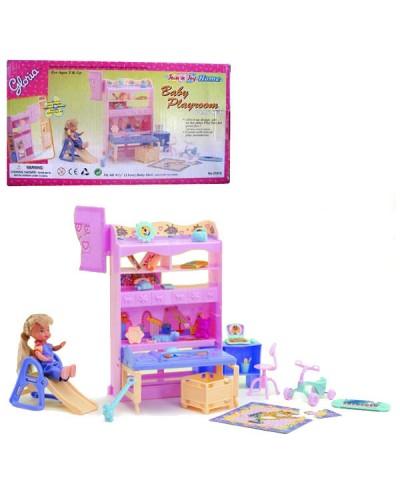 """Мебель """"Gloria"""" 21014 для спальни, кровать, вешалка, столик с полками, зеркало, в кор.37*17*33"""