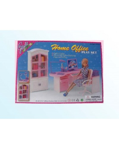 "Мебель ""Gloria"" 24018 для офиса, комп, письм стол, стул, полка, шкаф, аксесс, в кор."