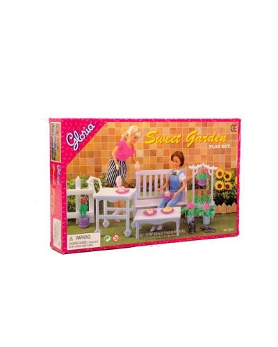 """Мебель """"Gloria"""" 9876 для сада, скамейка, цветы…, в кор.30*19*5см"""