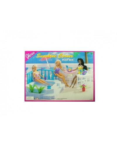 """Мебель """"Gloria"""" 9879 для пляжа, бассейн, стол, стулья..., в кор.41*30см"""