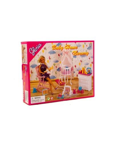"""Мебель """"Gloria"""" 9929 для детской, колыбель, люлька, комод, кресло-качалка, в кор."""
