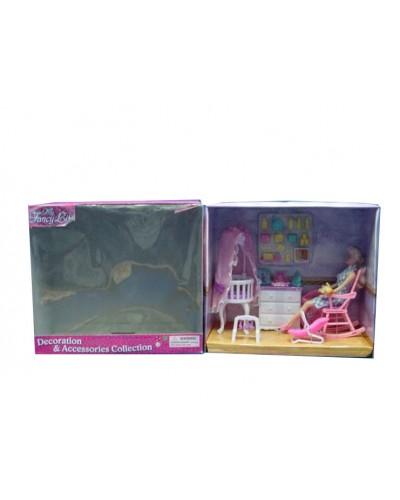 """Мебель """"Gloria"""" 9929GB для детской, колыбель, комод, кресло-качалка, аксесс, в кор.37*18*33"""