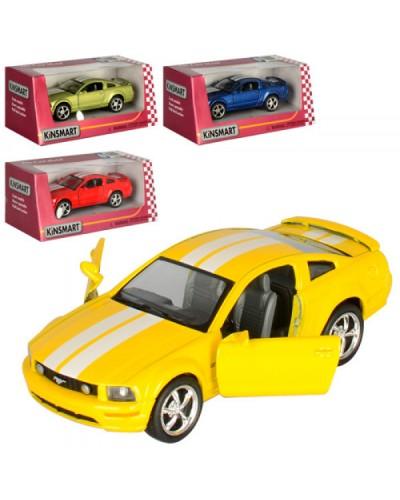 "Машина металл ""KINSMART"" KT5091WF ""Ford Mustang GT 2006"", в коробке 16*8*7см"