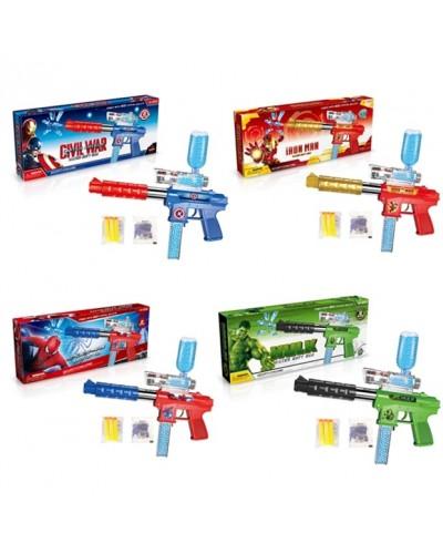 Оружие  A99907/08/09/10 с поролон,  гелев.снарядами, в коробке 38*16*6см