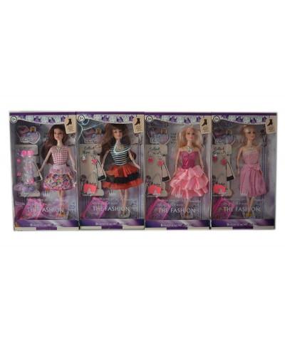 """Кукла типа """"Барби"""" ZH170, 4 вида, с сумочкой, чемоданом, аксессуарами, в кор.18*5,5*32,5см"""