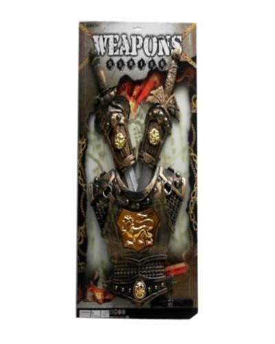 Рыцарский набор 333-33, 2 меча и доспехи, на  планшетке 64*39*5см