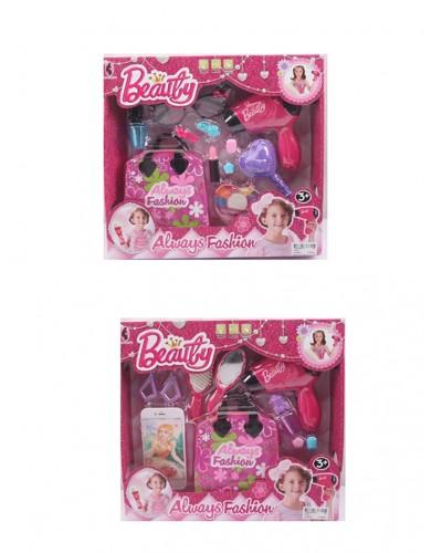 Аксессуары для девочек V755-1/2, 2 вида, фен дует, сумка, расческа, аксесс., в кор.34*31*7см