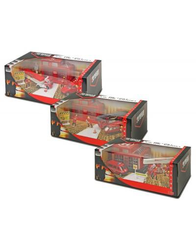 """Игровой набор метал.XZ1134C/35C/36C """"Fire Engine set"""" 3 вида в коробке 36,5*1"""
