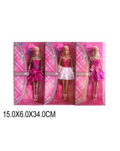 "Кукла типа ""Барби"" LS20160, 3 вида, с аксесс, в кор.15*6*34см"