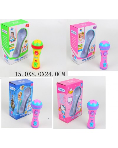 Микрофон 2807-17/CH батар., 4 вида микс в кор. 15*8*24 см