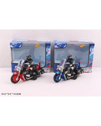 Мотоцикл батар. 9968-1A, 2 цвета, в коробке 15*5,5*10см