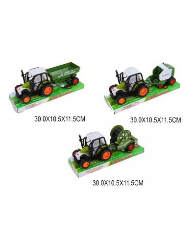 Трактор инерция 1608-3/4/5 под слюдой 30*10,5*11,5 см