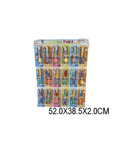 Фонарик лазерный 909-138, батар, отрывные,18шт на планш. 52*38,5*2см