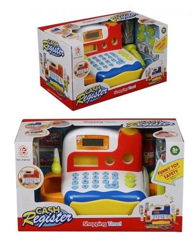 Кассовый аппарат LF9815AB белокрас, сканер, калькулятор, продукты, в кор. 38*19*21см