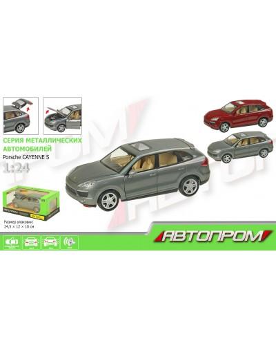 """Машина металл 68241A """"АВТОПРОМ"""", батар., свет, звук, откр.двери, капот, багаж., в кор. 24,5*12,5*"""