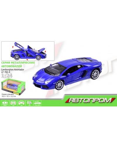 "Машина металл 68254A ""АВТОПРОМ"", 1:24 Lamborghini Aventador LP700-4, откр.двери, в кор. 24,5-12"