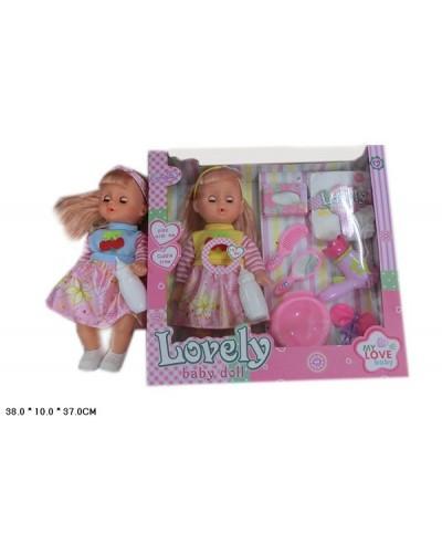 Кукла HX356-4, муз, 2 вида, звук, пьет-пис, подгуз, бут, горшок, фен, расчес, зерк, кор.38*10*37