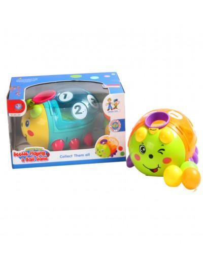 Музыкальная игрушка 855-24A пчелка-сортер, 2 режима, шарики, свет, звуки в коробке 26*17,5*1