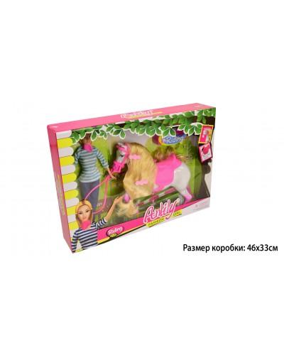 """Кукла типа """"Барби""""Anlily"""" 99102 наездница, с лошадью, в кор.46*8*33см"""