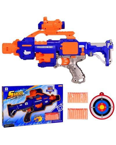 Бластер с поролон.снарядами 7011 в коробке 51,5*33,5*9см