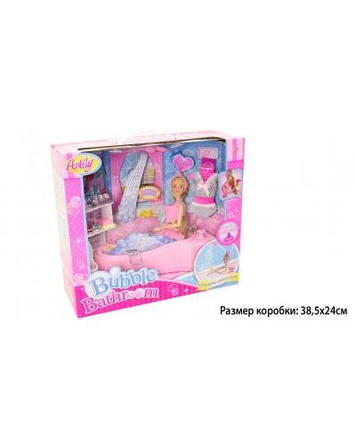 "Кукла типа ""Барби""Anlily"" 99048 ,в ванной течет вода, полочки с аксесс д/купания, в кор.38*14"