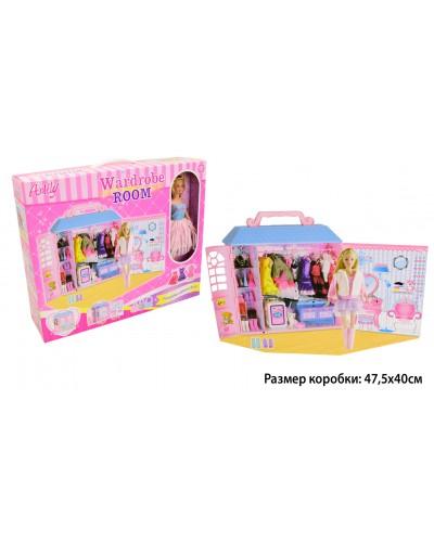 """Кукла типа """"Барби""""Anlily"""" 99049 с гардеробной комнатой, одеждой, аксесс...в кор. 47*12*39см"""
