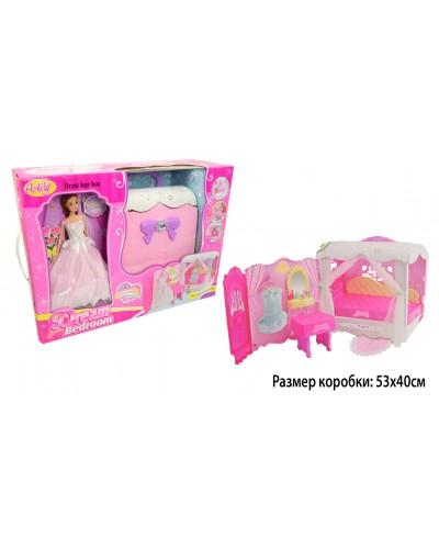 """Кукла типа """"Барби""""Anlily"""" 99047 в бальном платье, чемодан превращ. в дом, в кор.53*18*39"""