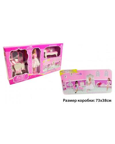 "Кукла типа ""Барби""Anlily"" 99045 трюмо с зеркалом, стул, диван, аксессуары, в кор.72*13*37см"