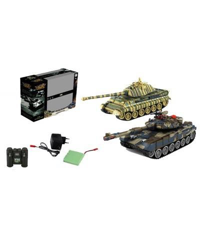 Танковый бой аккум р/у 99821 в коробке 41,5*13,5*32см
