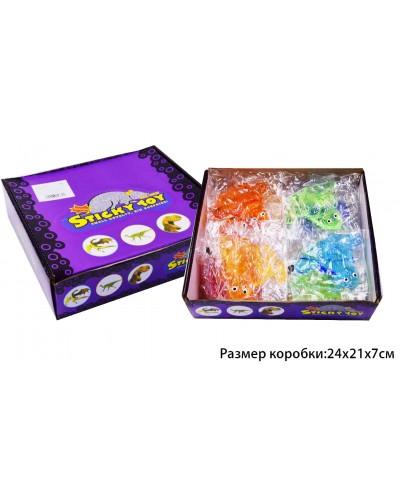 Животные-лизуны B24362, 4 цвета, разм 8*10 см пакет, в боксе 30шт/цена за шт/