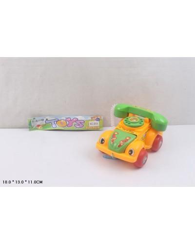 Каталочка 081A телефон, на веревочке, в пакете 18*13*11см