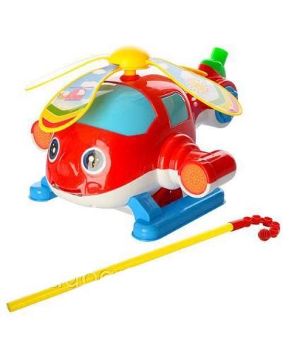 Каталочка вертолетик 0362 на палочке в пакете 26*20*25см