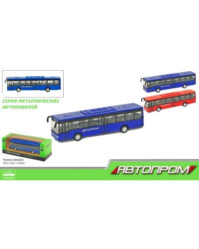 """Автобус металл 7784, """"АВТОПРОМ"""" в коробке 19,5*6,5*6,5см"""