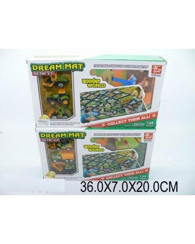 Игровой коврик SQ80663-2 коврик, 3 машинок в кор.36*7*20см