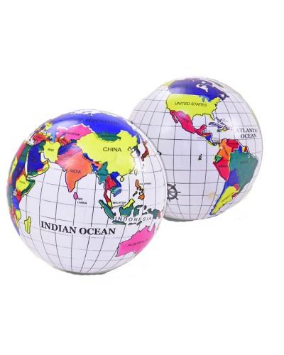 Мяч резиновый RM1704,  Глобус 9'',60 грамм