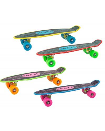 Скейт KS02 PU колеса