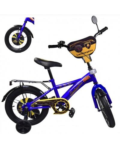 "Велосипед 2-х колес 12"" 181246 со звонком, зеркалом, без ручного тормоза"