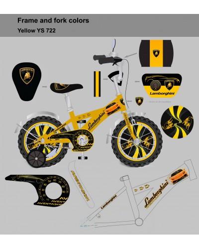 "Велосипед 2-х колес 12"" 181247 со звонком, зеркалом, без ручного тормоза"
