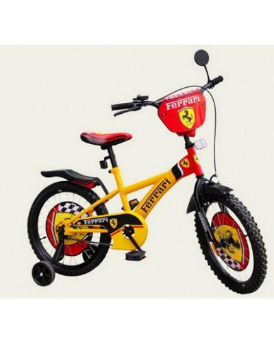 Велосипед 2-х колес 14' 181427 со звонком, зеркалом, руч.тормоз